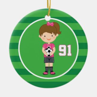 Soccer Uniform Number 91 Girls Ornament
