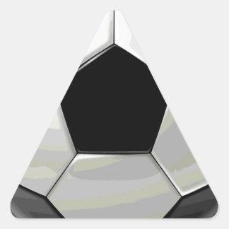 Soccer Unique Artwork Triangle Sticker