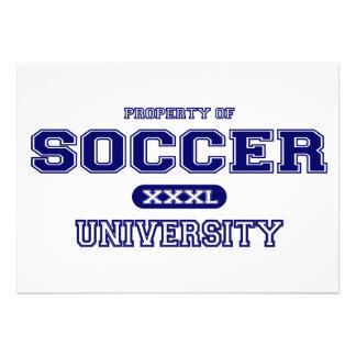 Soccer University Personalized Invites