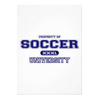 Soccer University Personalized Announcement