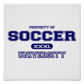 Soccer University Poster