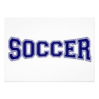 Soccer University Style Custom Invitations