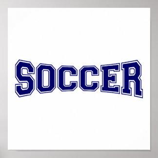 Soccer University Style Poster