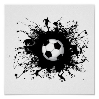 Soccer Urban Style Poster