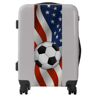 Soccer | USA Flag Sport Gift Luggage