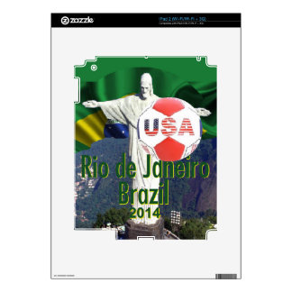 Soccer USA Rio Brazil Decal For The iPad 2