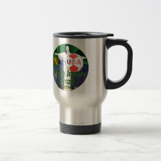 Soccer USA Rio Brazil Travel Mug