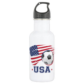 Soccer USA Stainless Steel Water Bottle