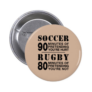 Soccer Vs Rubgy 2 Inch Round Button