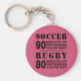 Soccer Vs Rubgy Keychain