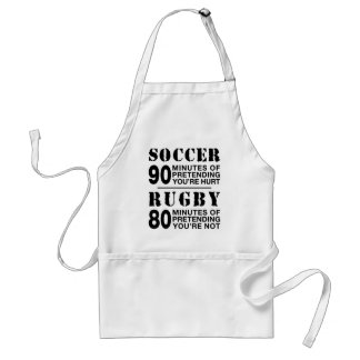 Soccer vs Rugby Adult Apron
