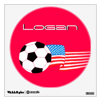 Soccer Wall Decal: Red USA Wall Skins