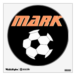Soccer Wall Decals: Black Soccer Wall Graphics