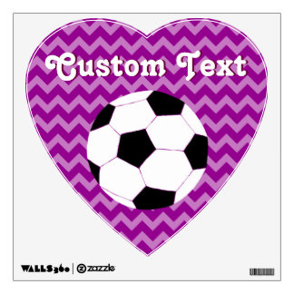 Soccer Wall Decals: Chevron Soccer Wall Decal
