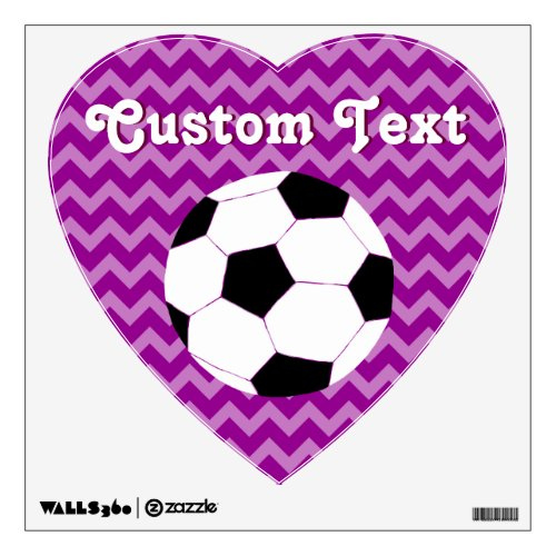 Soccer Wall Decals Chevron Soccer Wall Decal