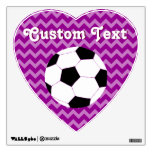 Soccer Wall Decals: Chevron Soccer Wall Skins