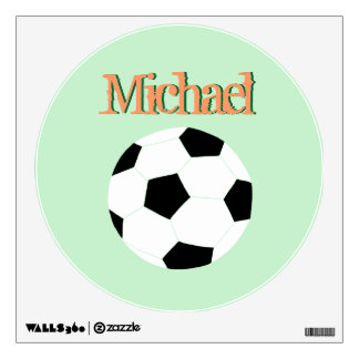 Soccer Wall Decals: Green Soccer Wall Stickers