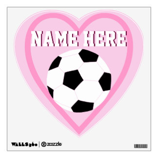 Soccer Wall Decals: Love Soccer Wall Graphics