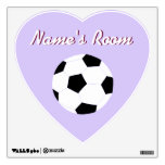 Soccer Wall Decals: Purple Soccer Wall Skins