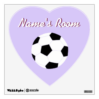 Soccer Wall Decals: Purple Soccer