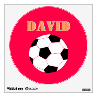 Soccer Wall Decals: Red Soccer Wall Sticker