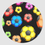 Soccer Wallpaper Round Stickers