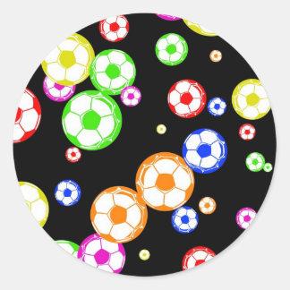 Soccer Wallpaper Round Stickers