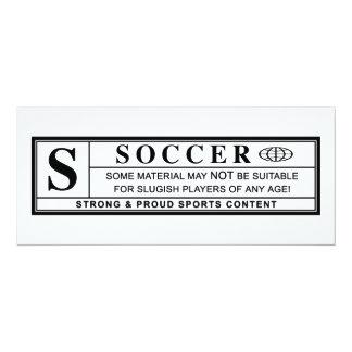 soccer warning label card