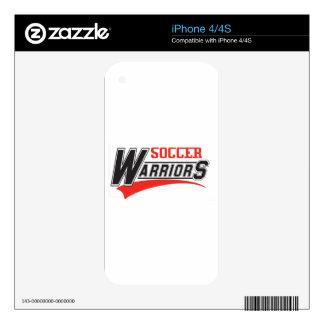 soccer warriors design skin for iPhone 4S