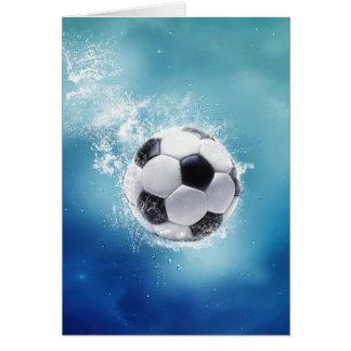 Soccer Water Splash Greeting Card