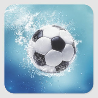Soccer Water Splash Stickers