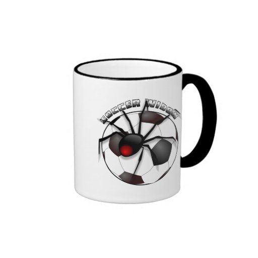 Soccer Widow with Text Ringer Mug