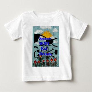 Soccer WIFI Eat Dream Repeat. Baby T-Shirt