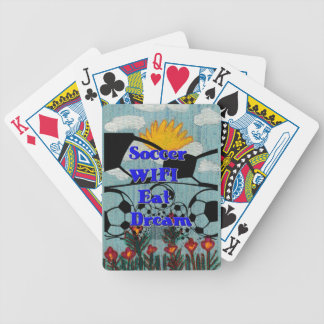 Soccer WIFI Eat Dream Repeat. Bicycle Playing Cards