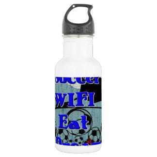 Soccer WIFI Eat Dream Repeat. Water Bottle