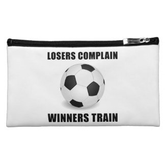 Soccer Winners Train Makeup Bag
