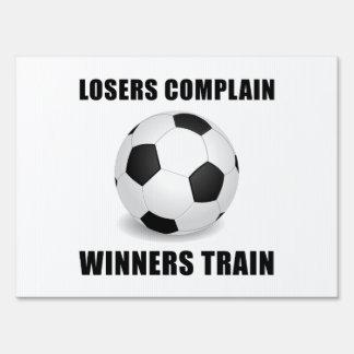 Soccer Winners Train Yard Sign