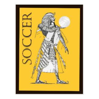 Soccer With An Egyptian Postcard
