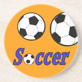 Soccer with Ball Sandstone Coaster