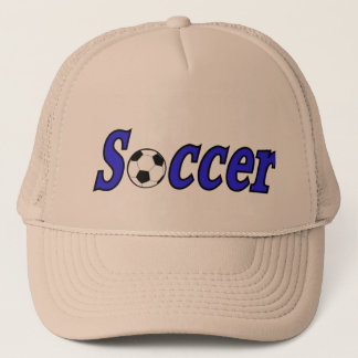 Soccer with ball trucker hat