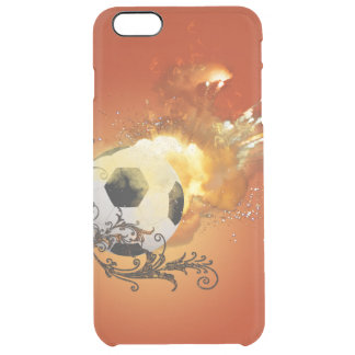 Soccer with fire uncommon clearly™ deflector iPhone 6 plus case