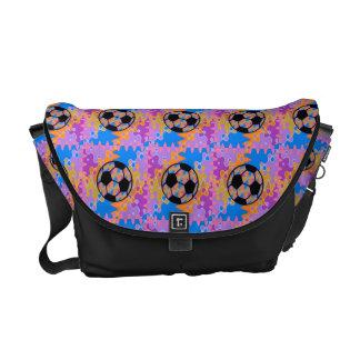 Soccer with flair messenger bag