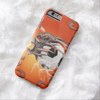 Soccer with skull, fire and water barely there iPhone 6 case