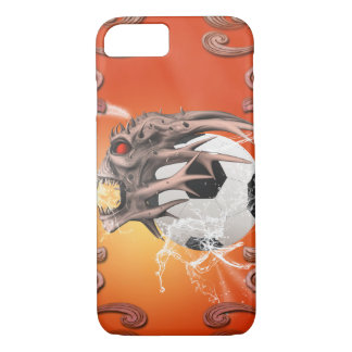 Soccer with skull, fire and water iPhone 7 case