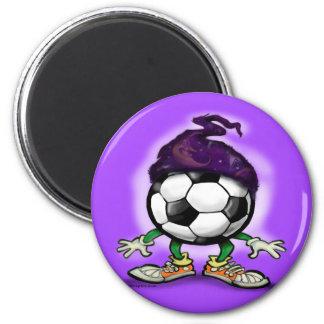 Soccer Wizzard 2 Inch Round Magnet