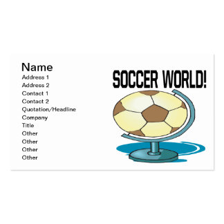 Soccer World Double-Sided Standard Business Cards (Pack Of 100)