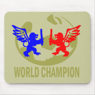 SOCCER WORLD CHAMPION LIONS MOUSE PAD