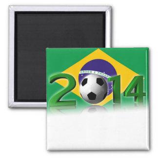 Soccer World Championship 2014 2 Inch Square Magnet