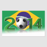 Soccer World Championship 2014 Rectangular Sticker
