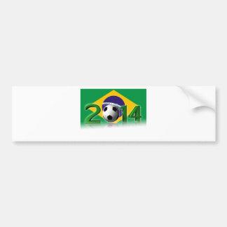 Soccer World Cup 2014 Pegatina De Parachoque